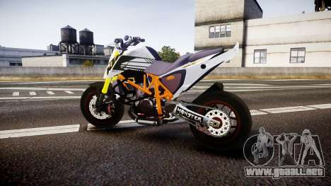 KTM 690 SuperMoto para GTA 4 left