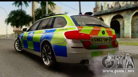 BMW 530d Kent Police RPU para GTA San Andreas left