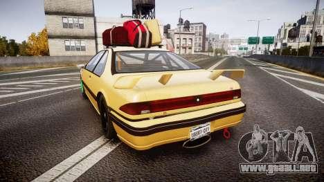 Vapid Fortune Drift para GTA 4 Vista posterior izquierda