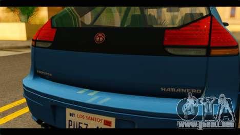 GTA 4 Habanero para la visión correcta GTA San Andreas