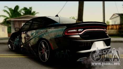 Dodge Charger RT 2015 Sword Art para GTA San Andreas left