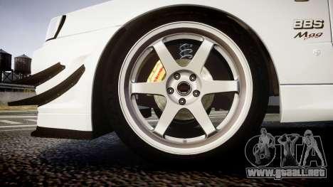 Nissan Skyline R34 GT-R Mines para GTA 4 vista hacia atrás