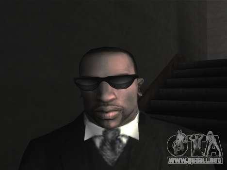 Las gafas nuevas para CJ para GTA San Andreas quinta pantalla