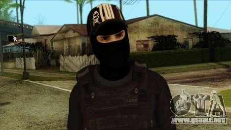 Sicario Skin v10 para GTA San Andreas tercera pantalla