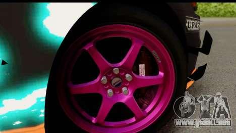 Mitsubishi Lancer Evolution X 2014 Itasha para GTA San Andreas vista hacia atrás