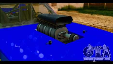 Chevy Nova NOS DRAG para GTA San Andreas vista hacia atrás