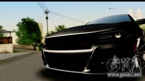 Dodge Charger RT 2015 Sword Art para GTA San Andreas vista posterior izquierda