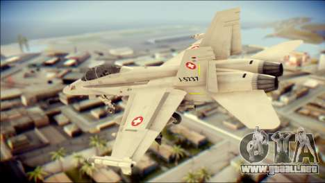 F-18D Swiss Air Force para GTA San Andreas left