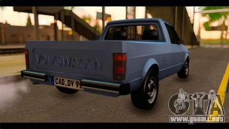Volkswagen Caddy Mk1 Stock para GTA San Andreas left