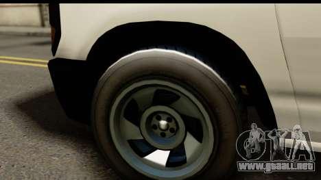 GTA 5 Rumpo para GTA San Andreas vista posterior izquierda