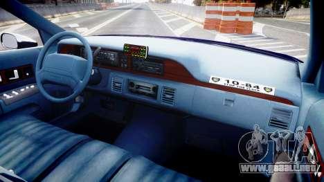 Chevrolet Caprice 1993 LCPD WH Auxiliary [ELS] para GTA 4 vista hacia atrás