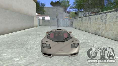 1992 McLaren F1 Clinic Model Custom Tunable v1.0 para GTA San Andreas left