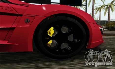 Lykan Hypersport 2014 Livery Pack 1 para GTA San Andreas vista posterior izquierda