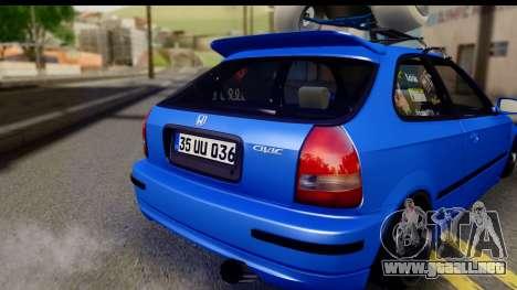 Honda Civic Hatchback para la visión correcta GTA San Andreas