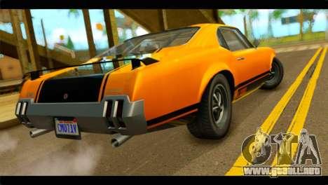 GTA 5 Declasse Sabre GT Turbo IVF para GTA San Andreas left