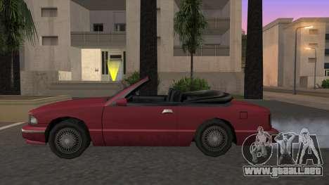 Premier Cabrio para GTA San Andreas left