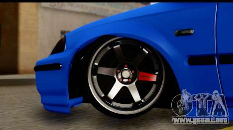 Honda Civic Hatchback para GTA San Andreas vista hacia atrás