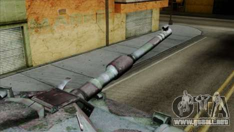 M1A2 Abrams Woodland Blue Camo para la visión correcta GTA San Andreas