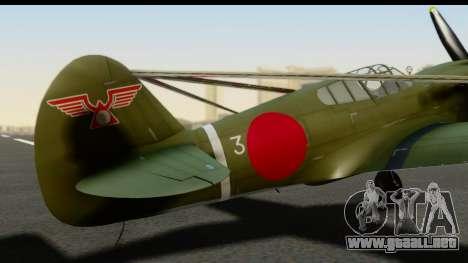 P-40E Kittyhawk IJAAF para GTA San Andreas vista hacia atrás