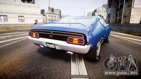 Ford Falcon XB GT351 Coupe 1973 para GTA 4 Vista posterior izquierda