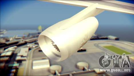 Airbus A340-300 Emirates para la visión correcta GTA San Andreas