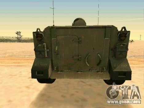 El M113 Blindados De Transporte De Personal para GTA San Andreas vista hacia atrás