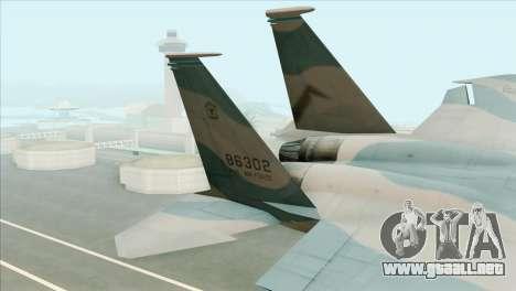 McDonnell Douglas F-15D Philippine Air Force para GTA San Andreas vista posterior izquierda