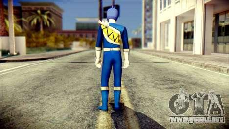 Power Rangers Kyoryu Blue Skin para GTA San Andreas segunda pantalla