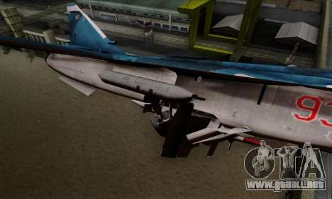 SU-24MP Fencer Blue Sea Camo para la visión correcta GTA San Andreas