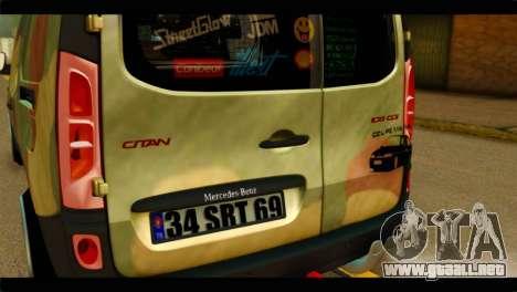 Mercedes-Benz Citan Stance para GTA San Andreas vista hacia atrás