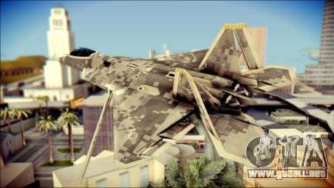 F-22 Raptor Digital Camo para GTA San Andreas left