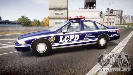 Chevrolet Caprice 1993 LCPD WH Auxiliary [ELS] para GTA 4 left