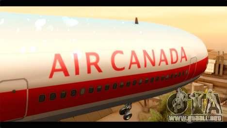 Lookheed L-1011 Air Canada para GTA San Andreas vista hacia atrás