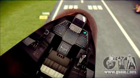 F-22 Raptor G1 Starscream para la visión correcta GTA San Andreas
