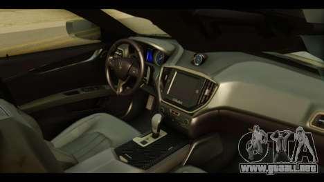 Maserati Ghibli S 2014 v1.0 EU Plate para la visión correcta GTA San Andreas