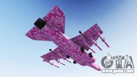 GTA 5 Hydra pink urban camouflage segunda captura de pantalla