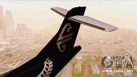 ATR 72-500 Air New Zealand para GTA San Andreas vista posterior izquierda