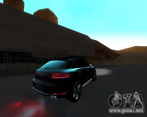 Porsche Macan Turbo para visión interna GTA San Andreas