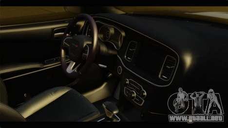 Dodge Charger 2015 Mexican Police para la visión correcta GTA San Andreas