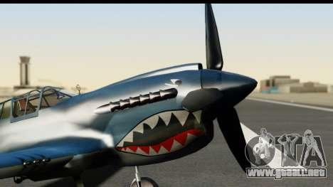 P-40E Kittyhawk US Navy para la visión correcta GTA San Andreas