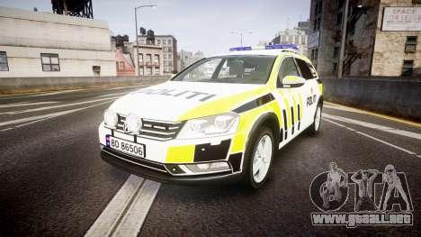 Volkswagen Passat B7 Police 2015 [ELS] marked para GTA 4