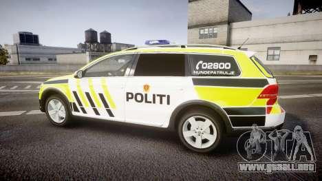 Volkswagen Passat B7 Police 2015 [ELS] marked para GTA 4 left