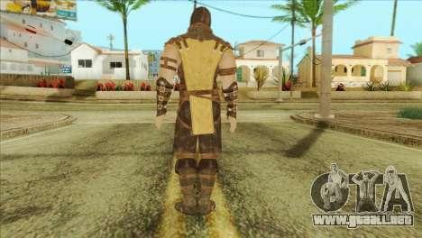 Mortal Kombat X Scoprion Skin para GTA San Andreas segunda pantalla
