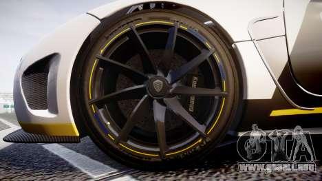 Koenigsegg Agera 2013 Police [EPM] v1.1 PJ4 para GTA 4 vista hacia atrás