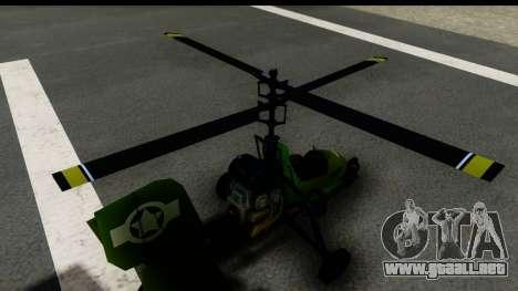 Gyrocopter para GTA San Andreas vista hacia atrás