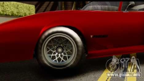 GTA 5 Imponte Phoenix para GTA San Andreas vista hacia atrás