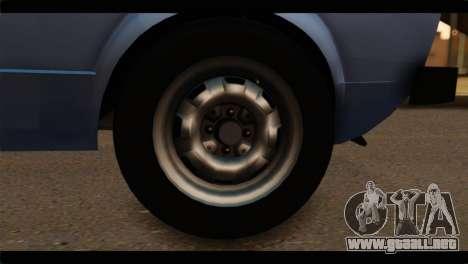 Volkswagen Caddy Mk1 Stock para GTA San Andreas vista posterior izquierda