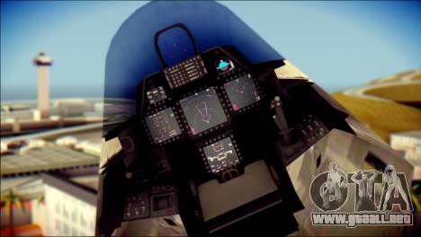 F-22 Raptor Digital Camo para la visión correcta GTA San Andreas