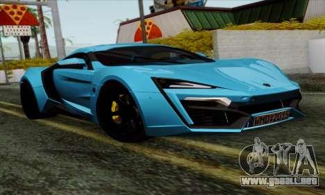 Lykan Hypersport 2014 EU Plate Livery Pack 1 para GTA San Andreas