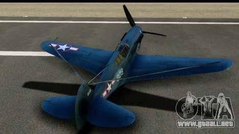 P-40E Kittyhawk US Navy para visión interna GTA San Andreas